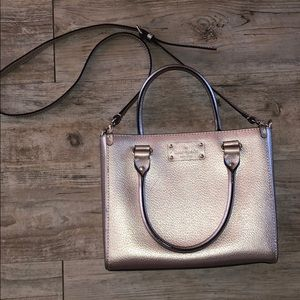 Kate Spade metallic pink purse